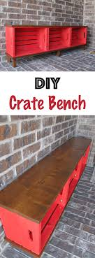 this wooden storage crate bench is perfect for storing boots shoes books or bags diy crate bench