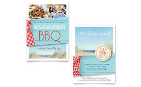 Summer Bbq Invitation Template Word Publisher