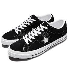 Converse One Star Size Chart Details About Converse One Star Ox Black White Suede Men Skateboarding Sneakers 158369c
