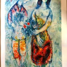 marc chagall couple wedding gift large wall art bride and gr on modern jewish wall art with best jewish art products on wanelo