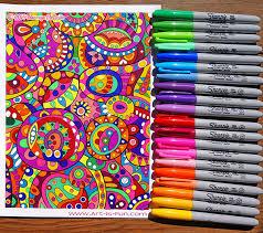 coloring with markers. Simple Coloring A Coloring Page Done Entirely With Sharpies Click To Enlarge And Coloring With Markers R