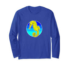 80s T Shirt Designs Amazon Com Retro Seahorse 80s Long Sleeve T Shirt By Turbo