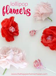 4 Petal Flower Paper Punch Valentines Day Craft Tissue Paper Flower Lollipops The Happier