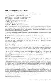Format Paper Latex Templates Academic Journals