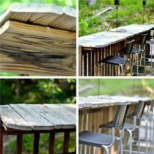 diy outdoor bar station 4