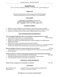 Biology Graduate Resume Sample Http Exampleresumecv Org Biology