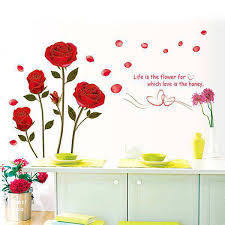 rose flowers wall sticker decals
