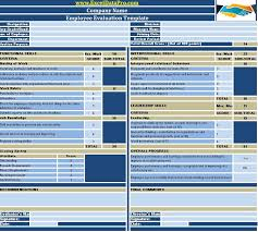 Employee Performance Chart Excel Download Employee Performance Evaluation Excel Template