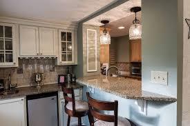 wet bar lighting. Traditional Bar With Pendant Light, Blanco Tulum Granite, Flush Crown Molding, Wet Lighting