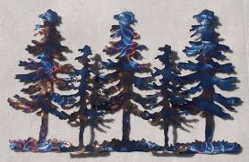 wall art ideas design five layered pine tree metal blue forest home decorations white background colorfull on pine tree forest metal wall art with wall art ideas design surprising pine tree metal wall art rustic