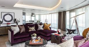 how to match a purple sofa to your living room décorpurple and brown sofas 4