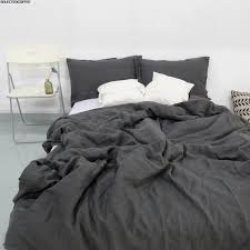 charcoal dark grey stone washed linen duvet cover set purchasing intended for stonewashed designs grey