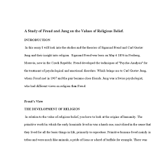 a study of freud and jung on the values of religious belief  document image preview