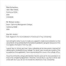 Academic Appeal Letter Academic Appeal Letter Grade Appeal Letter ...