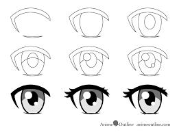 How To Draw Eyes Step By Step How To Draw Female Anime Eyes Tutorial Animeoutline