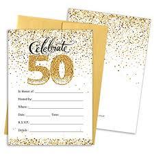 50th Anniversary Party Invitations 50th Anniversary Invitations Amazon Com