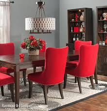 red dining chairs and table. style and comfort are two must-haves when looking for the perfect dining set, glamour collection delivers on both fronts. table\u0027s rich espresso red chairs table e