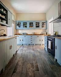 Blue Painted Kitchen Cabinets Kitchen Traditional With Beadboard Backsplash  Blue Kitchen