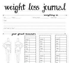 Weight Loss Record Sheet Food Journal Example Antonchan Co