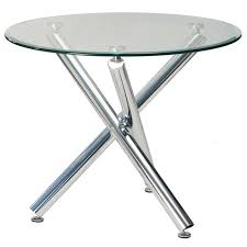 demi round glass top dining table