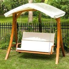 outdoor canopy swing wooden patio swing with canopy