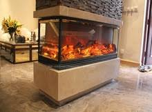 Double Sided Electric Fireplace  HouzzDouble Sided Electric Fireplace
