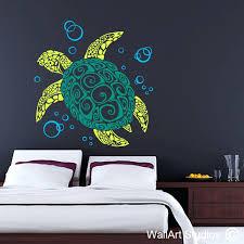 wall arts turtle wall art tribal tattoo vinyl stickers studios sea turtle wall art