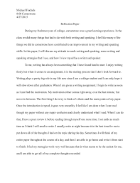 cornerstone reflection paper michael fischels 8 00 cornerstone 4 27 2015 reflection paper