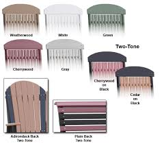 outdoor furniture colors. It Is Amish-crafted With Full Attention To Detail Using Time Tested, Comfortable, Wooden Outdoor Furniture Designs. The Two-tone Styles Mix Cherrywood Or Colors B