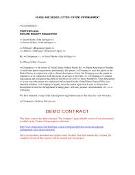 Cease And Desist Letter Patent Infringement Template Samples