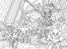 Small Picture Coloring Pages Superhero Halloween Coloring Pages Printable