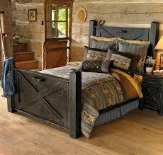 Great Black Barnwood Bed