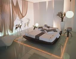 Modern Romantic Bedroom Interior Romantic Bedroom Interior With Round Led Lights And