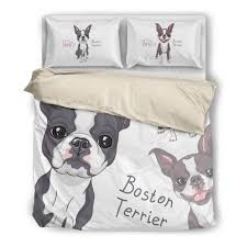 33 bright and modern boston terrier bedding terriers duvet 239c ottedesigns set baby crib