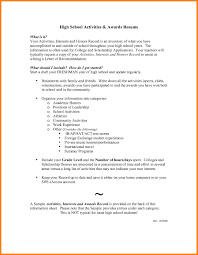 High School Resume Examples Awesome Awards And Acknowledgements