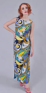 Hawaiian Dress Designers Vintage 1960s Malihini Hawaii Designer Collection Maxi Dress