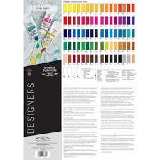 Winsor Newton Designer Gouache Paint Printed Colour Chart