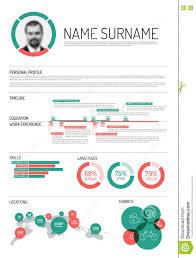 Resume Chart Vector Original Minimalist Cv Resume Template Stock