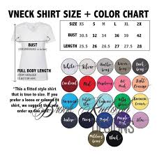 Next Level Ladies Ideal V Neck Size And Color Chart Options Digital File Download