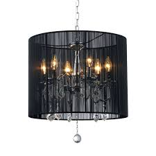 chandeliers barrel shade crystal chandelier warehouse of tiffany 185 in 6 light chrome vintage drum
