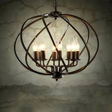 orb light chandelier industrial vintage metal cage chandelier large orb candle foyer pendant light 9 light orb light chandelier 9