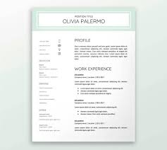 Google Documents Resume Template