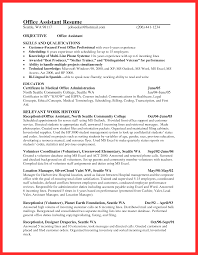 Office Resume Sample Good Resume Format