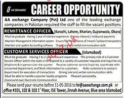 Remittance Officers And Customer Service Officers Wanted 2019 Job
