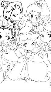 disney baby princess coloring