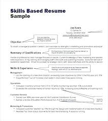 Skills For Resumes Resume Skills Based Examples Noxdefense Com