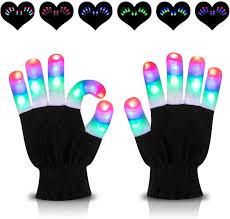 Light Up Gloves Amazon Hoomeda Led Gloves Light Up Gloves Finger Lights 3 Colors 6 Modes Flashing Rave Gloves Novelty Toys For Christmas Xmas Birthday Party Halloween