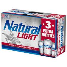 Pack Of Natty Light Natural Light Beer 15 12 Fl Oz Cans Walmart Com