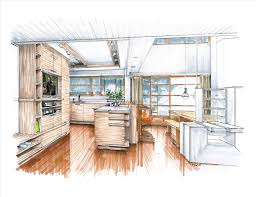 interior design sketches kitchen. Sketches Kitchen Sketch Of Remodeled With New Color Drawings Bedroomnot Only Interior Design U