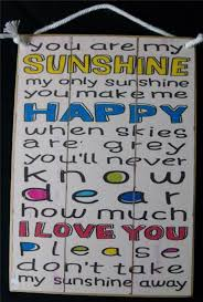 country printed quality wooden sign hanger you are my sunshine funny plaque 111199969243